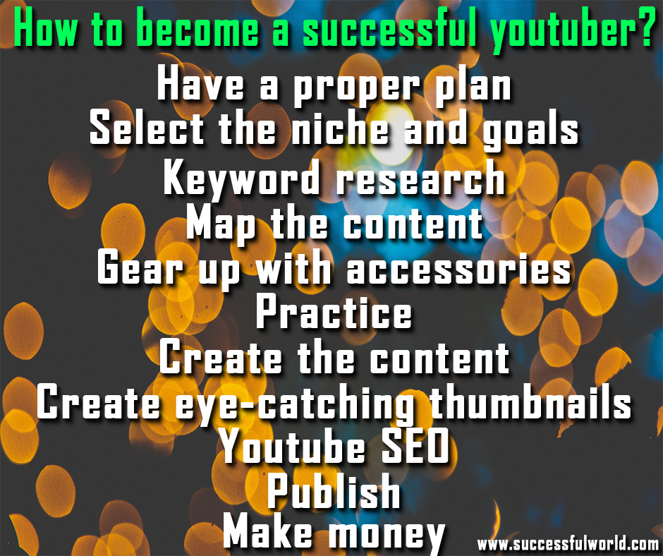 how to become a successful you tuber