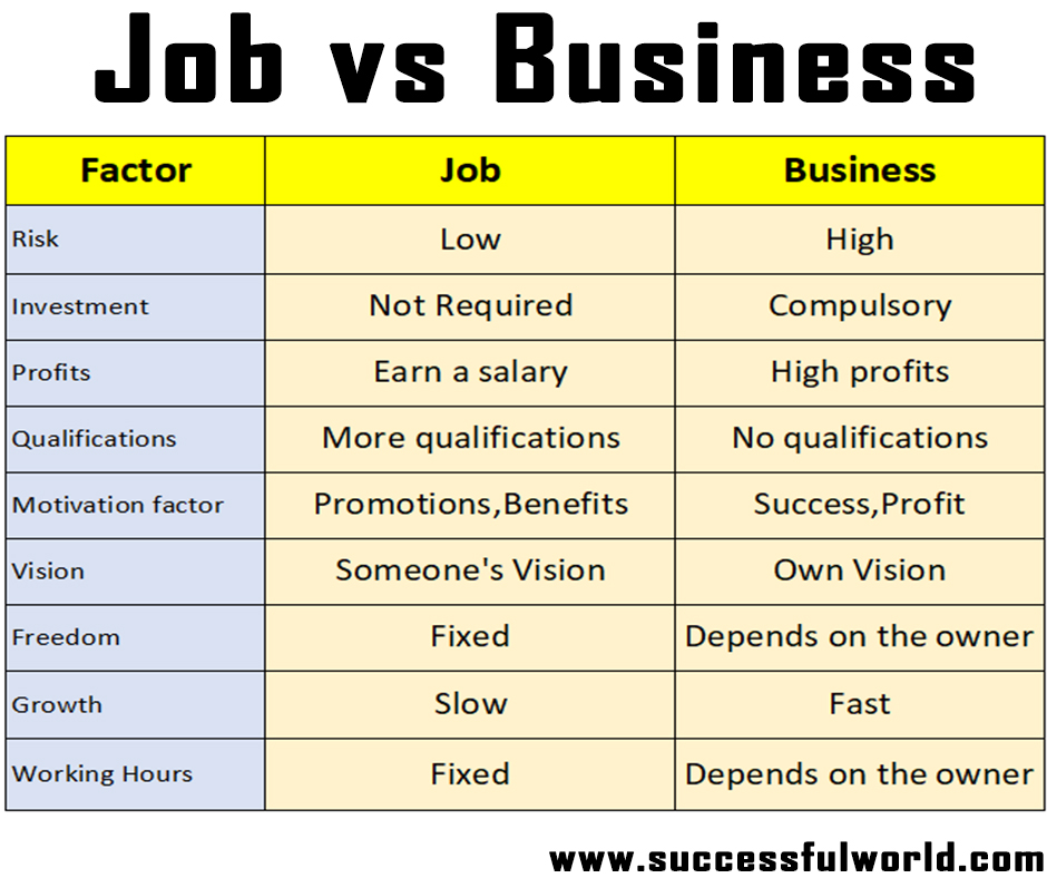 job vs business