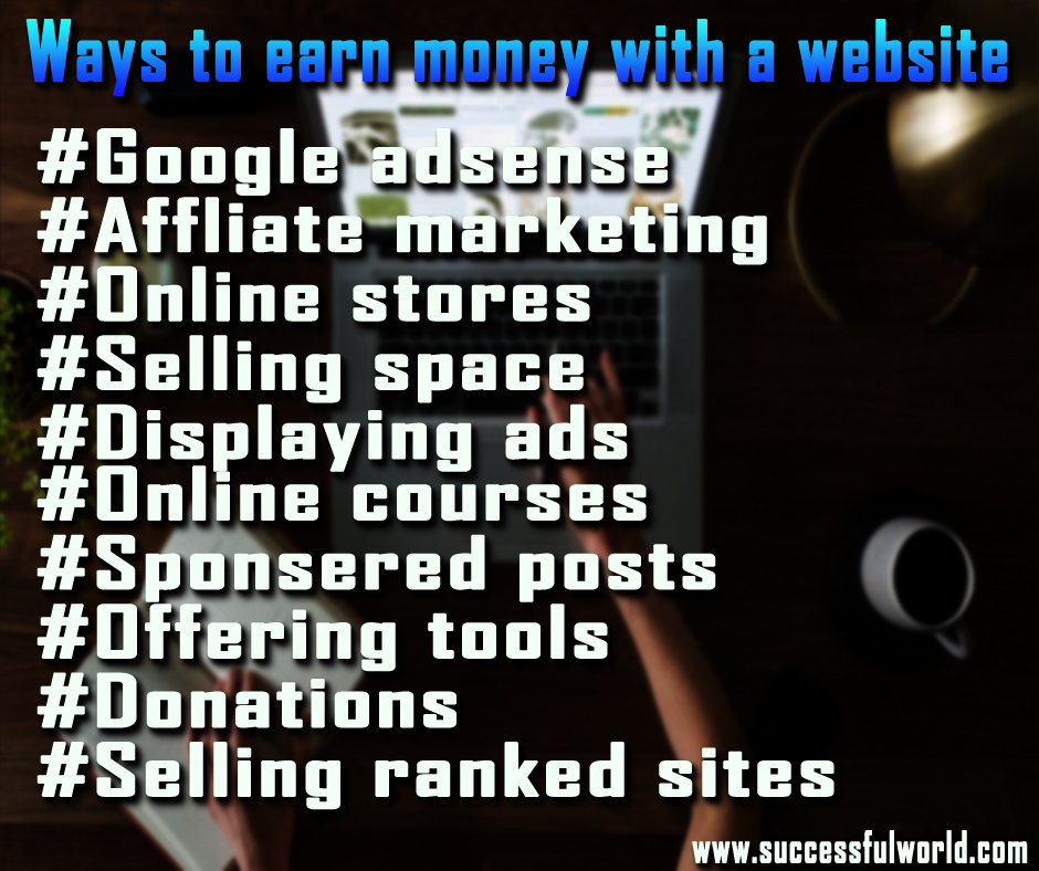 earn money with a website