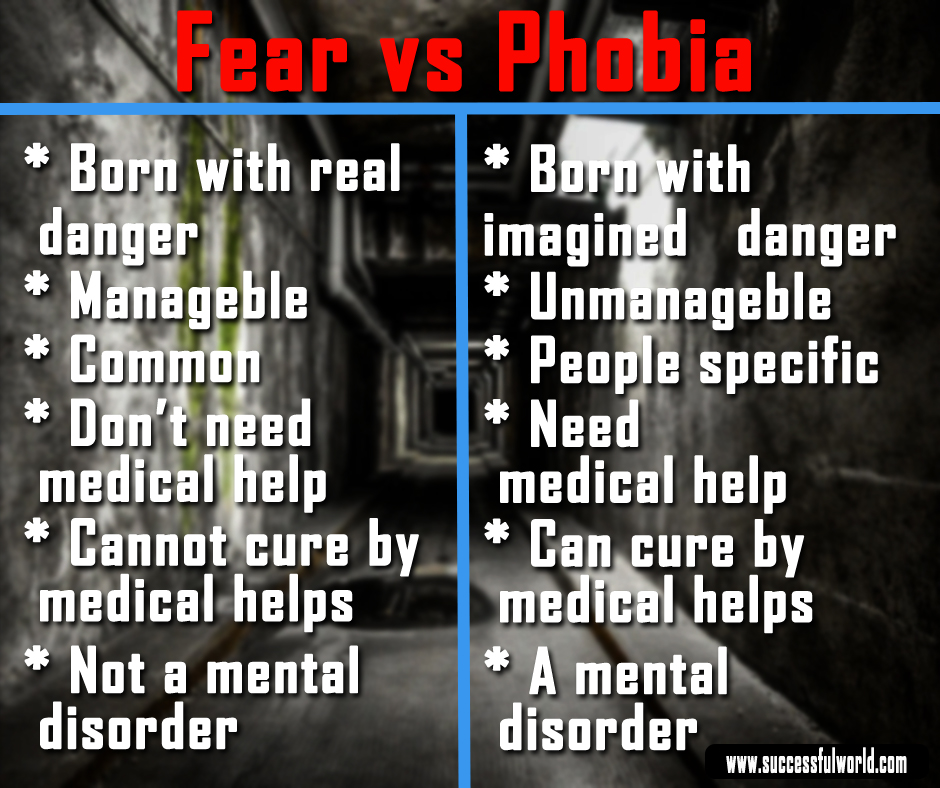 fear vs phobia