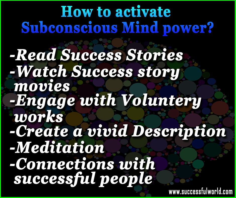 activate subconscious mind power