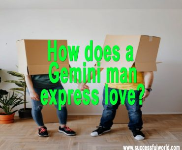 How does a Gemini man express love