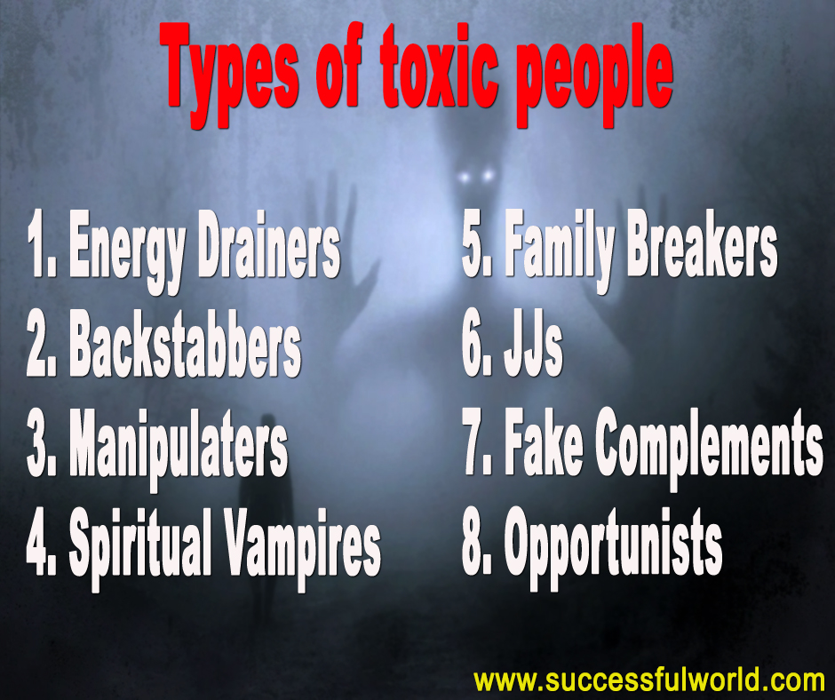 types of toxic people