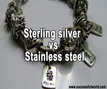 Sterling silver vs Stainless steel