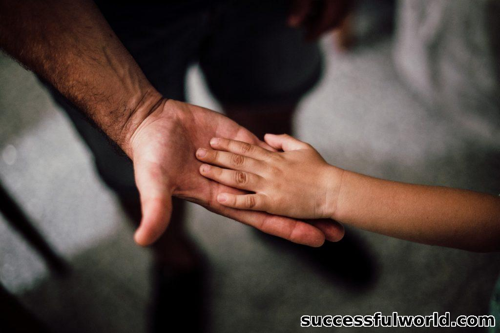 Father have some rights when they seea child.